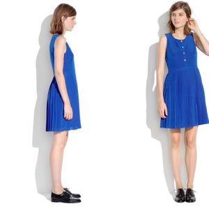 Madewell silk pleated shirt dress